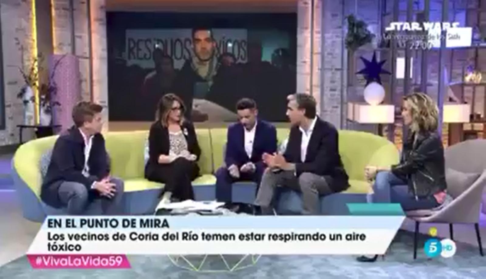 Abogados Coria del Río IN DIEM. Tele 5. Vive la Vida. Toñi Moreno. Gases . Tóxicos.