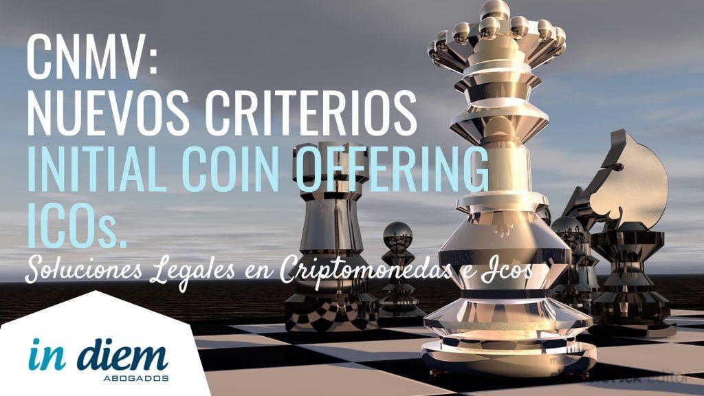 Nuevos Criterios ICO de la CNMV. Abogados IN DIEM.