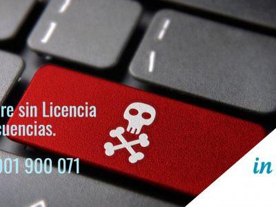 Software sin licencia - ilegal. Nuevas Tecnologías Abogados IN DIEM